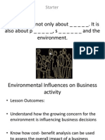 22- Environmental Influences on Business Activity
