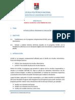 Practica 1. Introduccion Al Programa de Simulacion