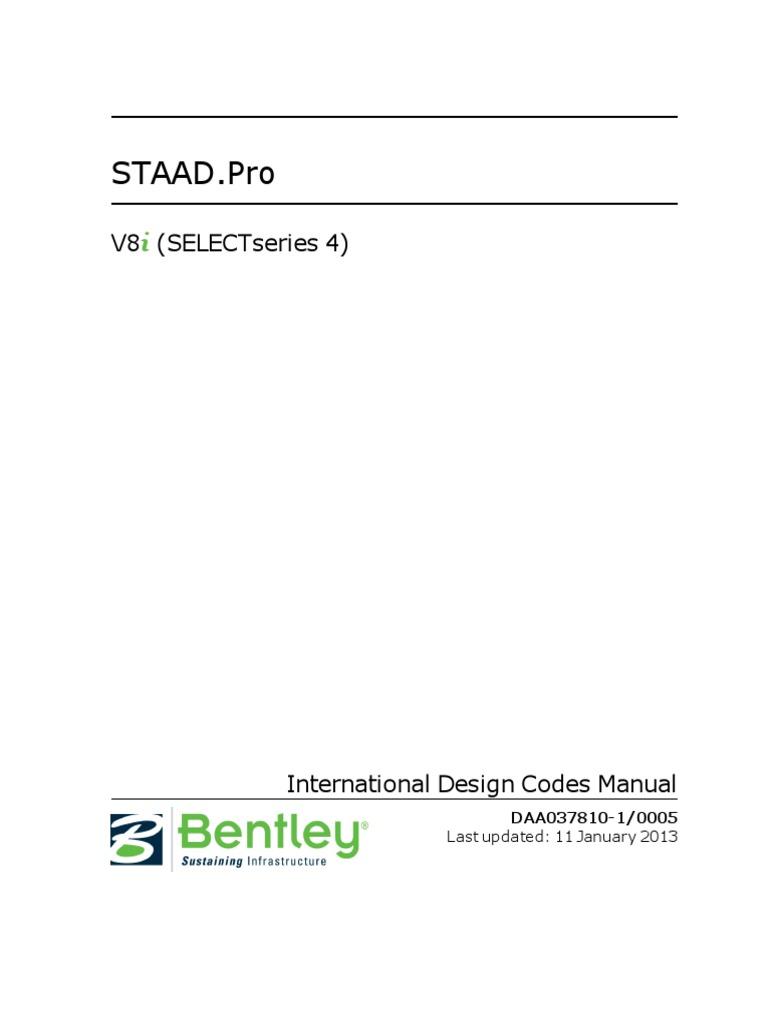 international codes staad pro v8i bending buckling rh scribd com Pro ENGINEER Pro ENGINEER Software