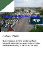 Analisa Kebutuhan Parkir