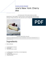 Curtis Stone Cheesecake