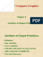 Attribs of Output Primitives