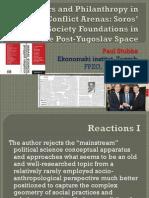 Flex Actors and Philanthropy in (Post)Conflict Arenas (presentation)
