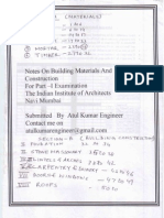 Building Construction & Building Material Notes(Quick Reference) For AIIA Part -I Examination organised by Indian Institute Of Architects navi Mumbai