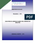 Guia Para Manejo Clinico Del Dengue en Adulto-09!09!11