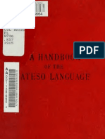 A Handbook of the Ateso Language