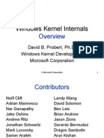 Windows Kernel Internal Overview