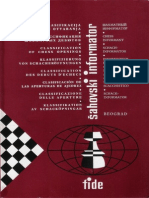 Chess Informant - Braslav Rabar - Clasificacion de Las Aperturas de Ajedrez