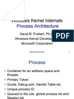 Windows Kernel Internals Process Architecture