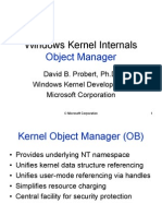 Windows Kernel Internal Object Manager