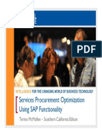 1311 Case Study Services Procurement Optimization Using SAP Functionality