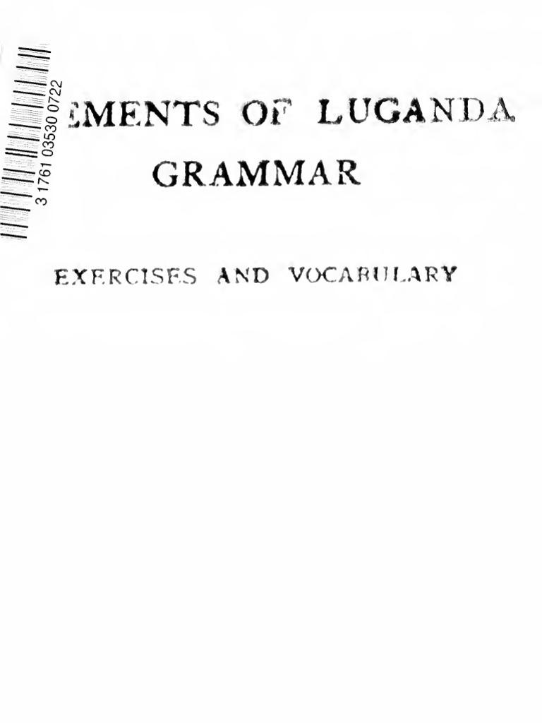 Elements Of Luganda Grammar English Language Adjective Holder Fuse Box 87 Dakika