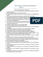 Preguntas concurso conoce Andalucía 2014