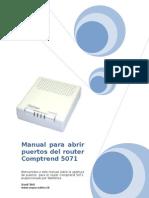 Manual para abrir puertos del router Comptrend