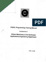 Fadal Programming Manual