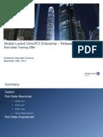 Postsales OmniPCX Enterprise R10.1