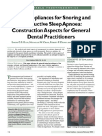 Dental Appliances for Snoring and Obstructive Sleep Apnoea_Construction Aspects for General Dental Practitioners