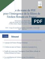Feuille de route de FEE pour l'émergence de la filière de l'éolien flottant en France