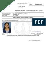 Sample Hallticket Calicut University