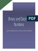 Binary and Decimal Numbers