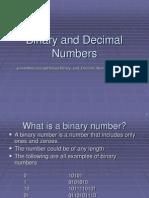 Binary and Decimal Numbers Feb0605