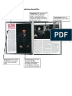 Task 2 Magazine Double Page Spread Analysis