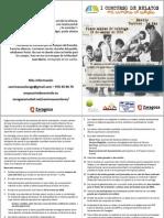 CEIP Sainz de Varanda - Camino Escolar - Concurso Relatos Bases Folleto