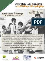 CEIP Sainz de Varanda - Camino Escolar - Concurso Relatos Cartel