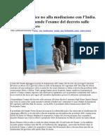 Marò Onu dice no alla mediazione