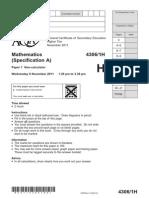 aqa-4306-1h-qp-nov11
