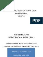 Praktek Terapi Nutrisi Enteral Dan Parenteral