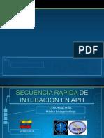 Secuencia Rapida Intubacion Aph