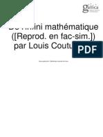 de l'infini mathématique Couturat
