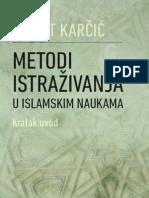 Metodi istraživanja u islamskim naukama - kratak uvod, dr. Fikret Karčić