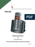 Aeg Tara 200 - bedienungsanleitung