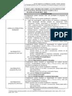 Lista Continuturi Simulare Bac clasa XI