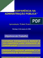 Transparencia-controle Interno e Externo