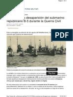 Submarino. La misteriosa desaparición del B-5 en Estepona