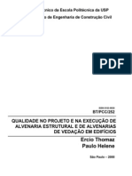 Alvenaria Estrutural - Recomendações e Traços