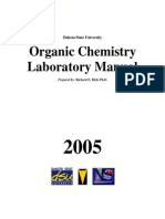 Organic Chemistry Laboratory - Manual