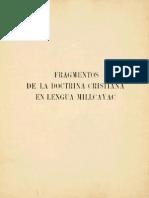 Catecismo, P. Luis de Valdivia.
