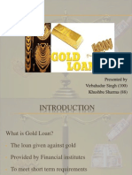 Gold Loan Ppt