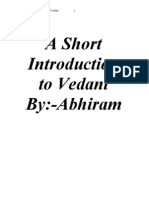 A Short Introduction to Vedant