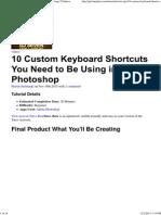 10 Custom Keyboard Shortcuts You Need to Be Using _ Psdtuts+