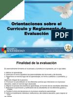 Reglamento de evaluación 2010