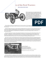History of the Ford Tractors