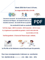 Stages Enfants 2014