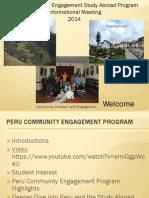 Shortened Peru Informational Meeting Presentation 2 2014 Pt 1