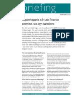 Copenhagen's climate finance promise