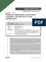 ACCIÓN REIVINDICATORIA - REQUISITOS